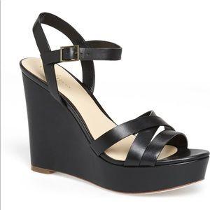 Cole Haan Black Melrose Wedge Sandal Size 8.5